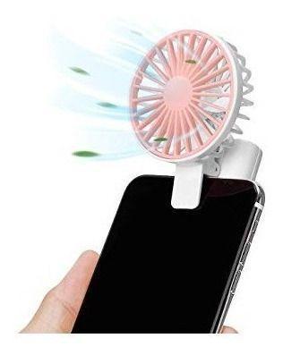 Mini Ventilador Portátil Para Celular via Usb Recarregável Uma Fofura