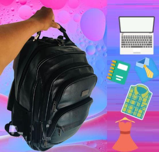 Mochila Impermeável C/ Cadeado segredo 7 Bolsos  Porta Notebook