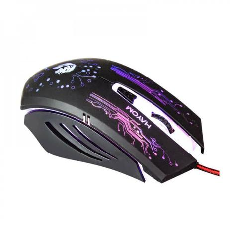 Mouse Gamer 6 Botões Hayom Com LED - MU2911