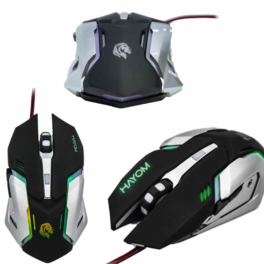 Mouse Para Jogo Gamer Com LED Rgb 2400dpi - MU2906