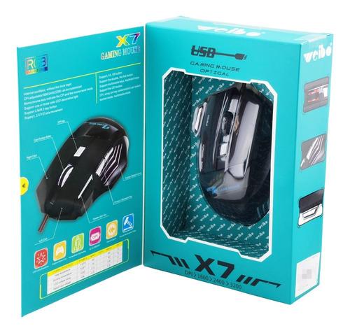 Mouse Gamer Weibo X7 3200 Dpi Profissional 7 Botões