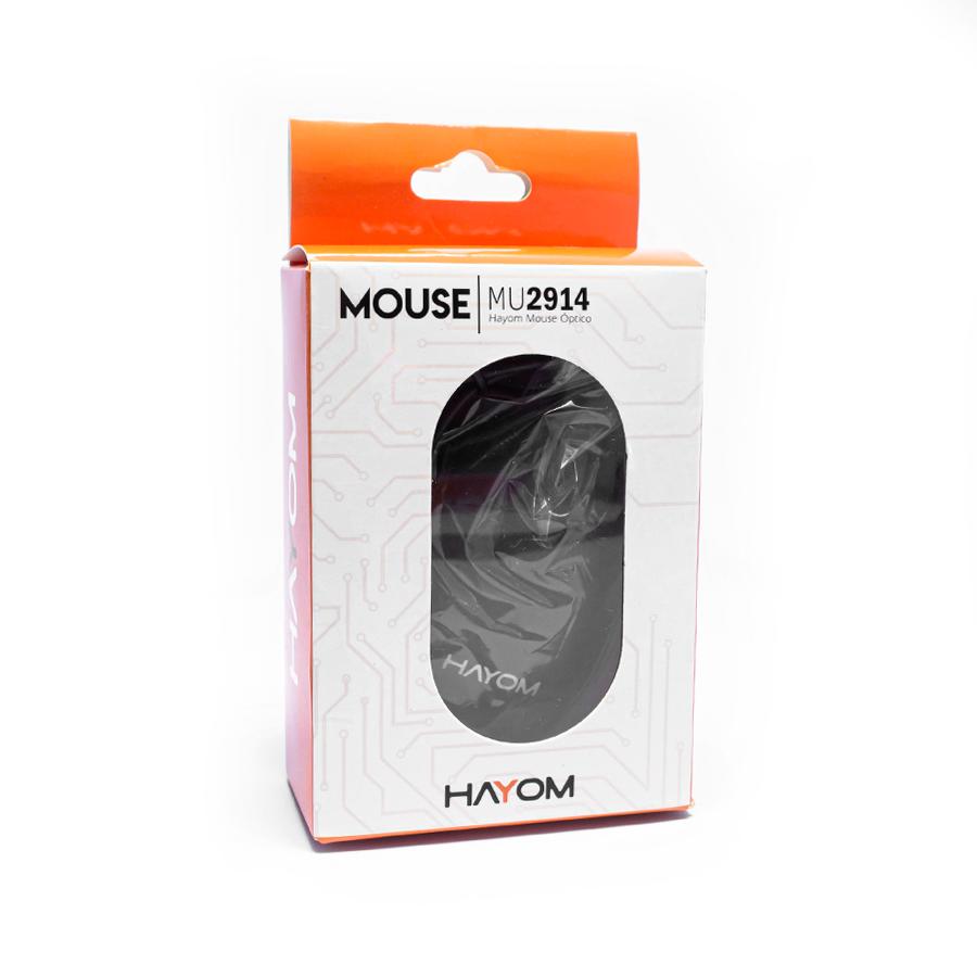 Mouse USB Hayom Office Básico Preto - MU2914