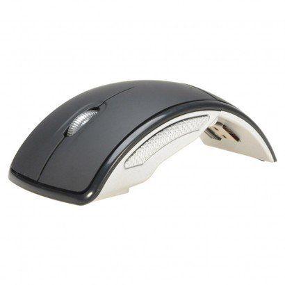 Mouse Sem Fio Curvado Usb 800dpi 2.4ghz