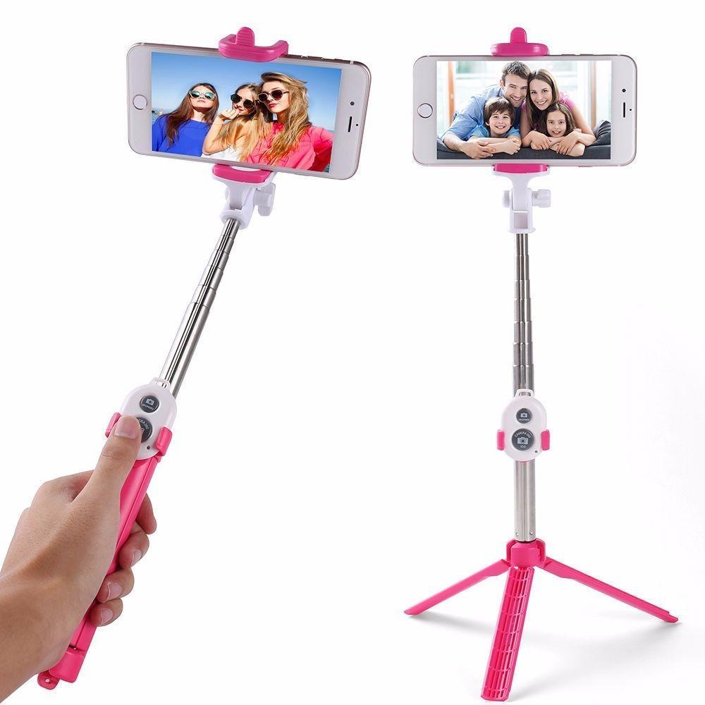Pau De Selfie Monopod Tripé Bastão Retrátil Iphone Android