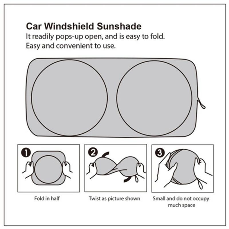 Protetor uv Pára-brisa Carro Pára-sol Sombra Frente Traseira Janela