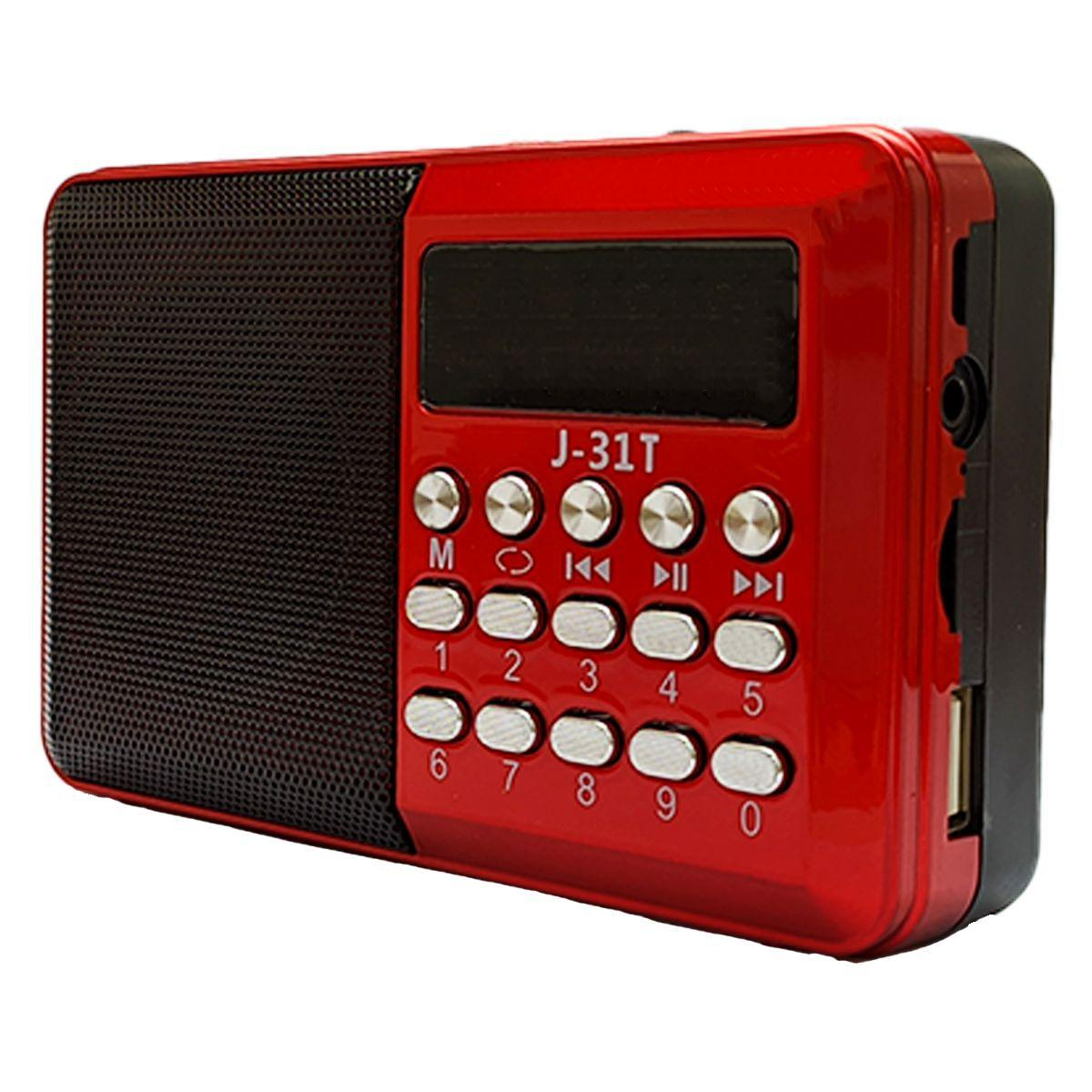Rádio com Bluetooth Entrada para Cartão Pen Drive J-31T