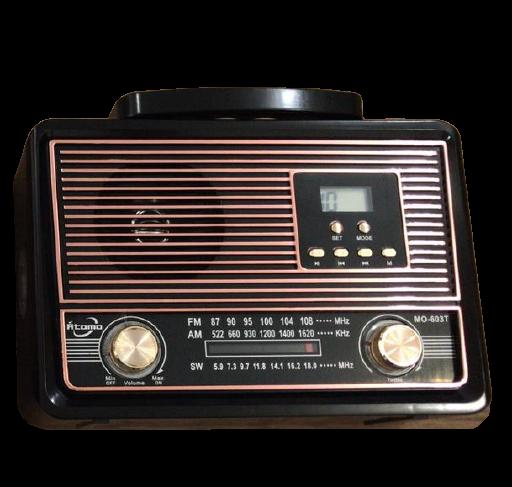Rádio fm/am/sw1/usb/tf/aux/receptor de 3 faixas  MO-608T