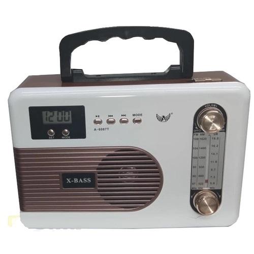 Rádio fm/am/sw/usb/tf/aux/receptor de 3 faixas  MO-607T