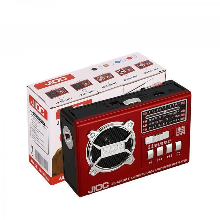 Radio JB-605URT  Color Box  AM/FM/SA 3/SD/USB/AUX  1200 mAh