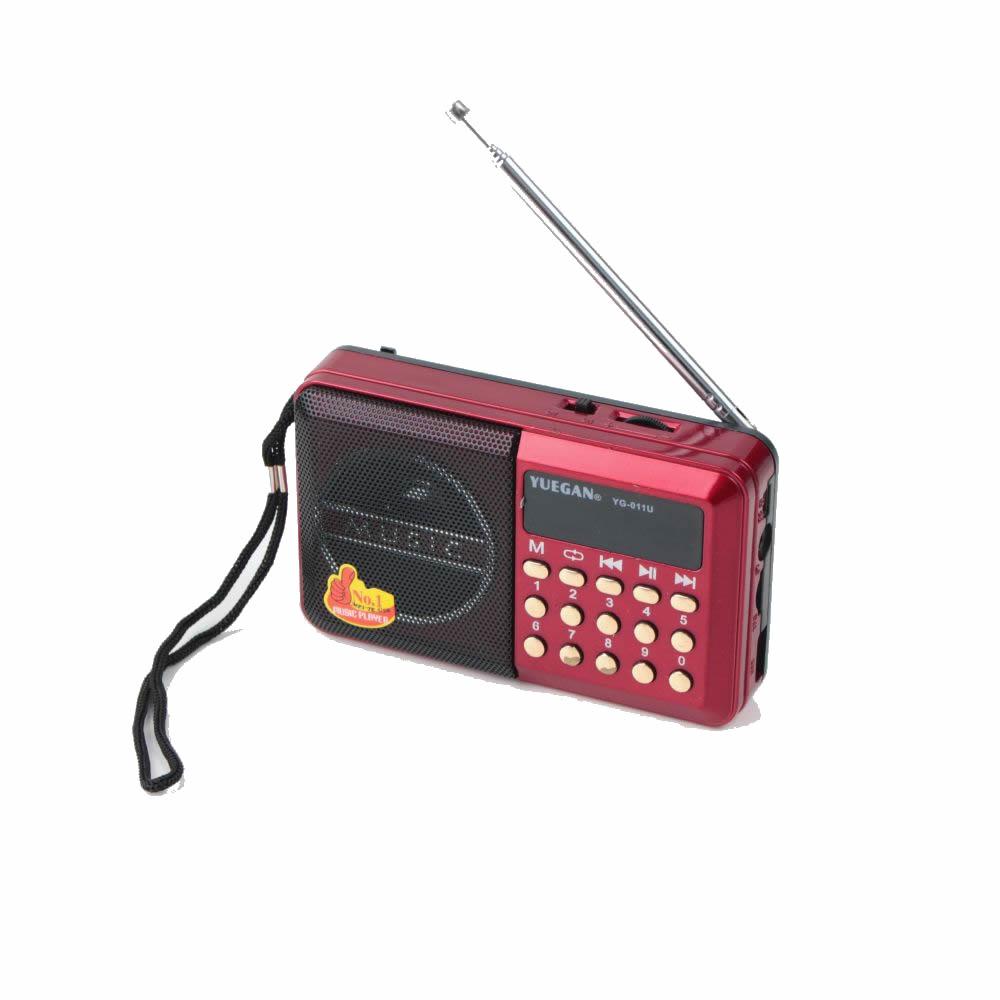 Rádio Portátil Digital Fm Bluetooth Usb Radinho Recarregável Yuegan YG-011U