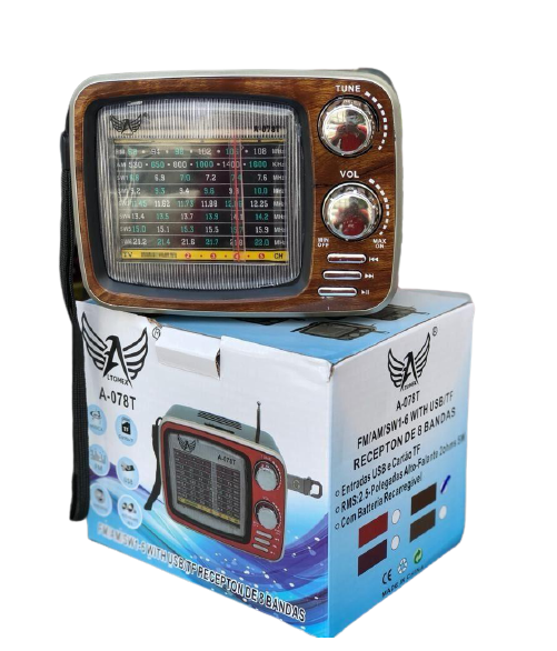 Radio Retrô Am , Fm , Sd , Usb , Bluetooth Altomex A-078t