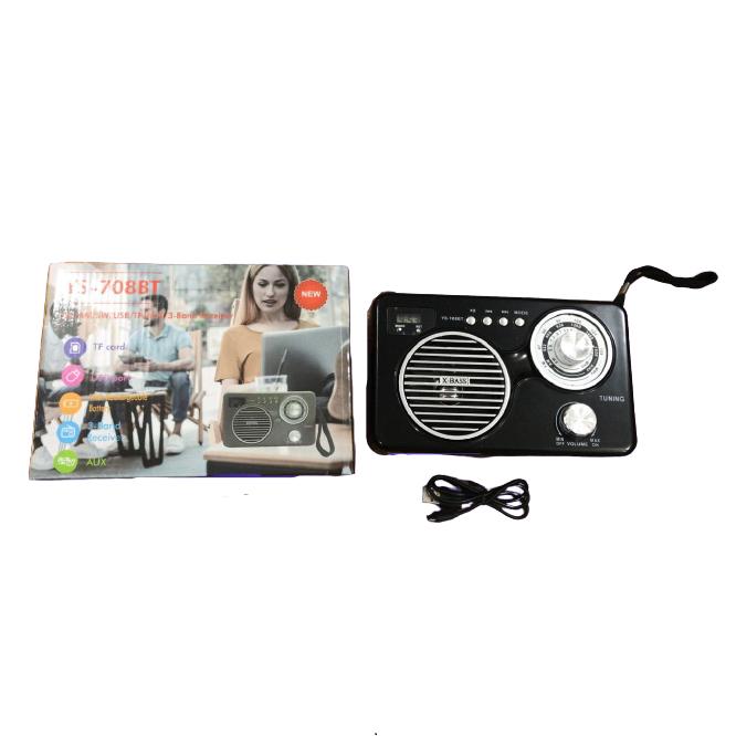 Radio Retro Caixa de Som Portatil Bluetooth Recarregavel YS-708BT