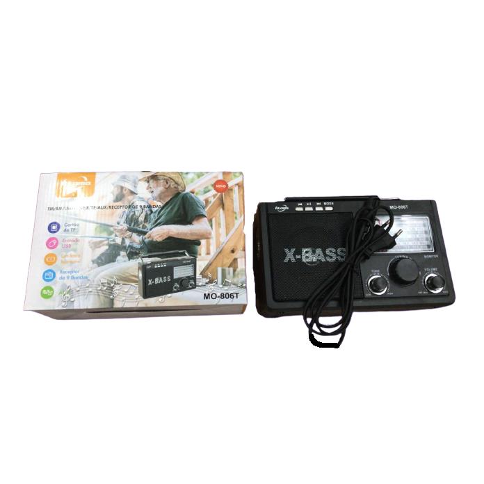 Radio Retro Caixa de Som Portatil Bluetooth Recarregavel MO-806T
