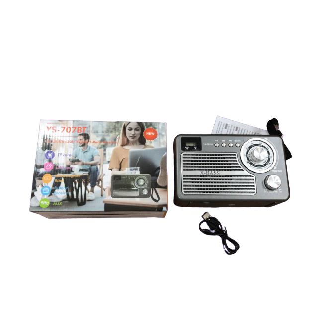 Radio Retro Caixa de Som Portatil Bluetooth Recarregavel YS-707BT