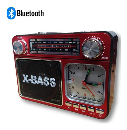 RÁDIO RETRÔ FM/AM/SW1-2/USB/SD/TF RECEBE 4 BANDAS MO-136T
