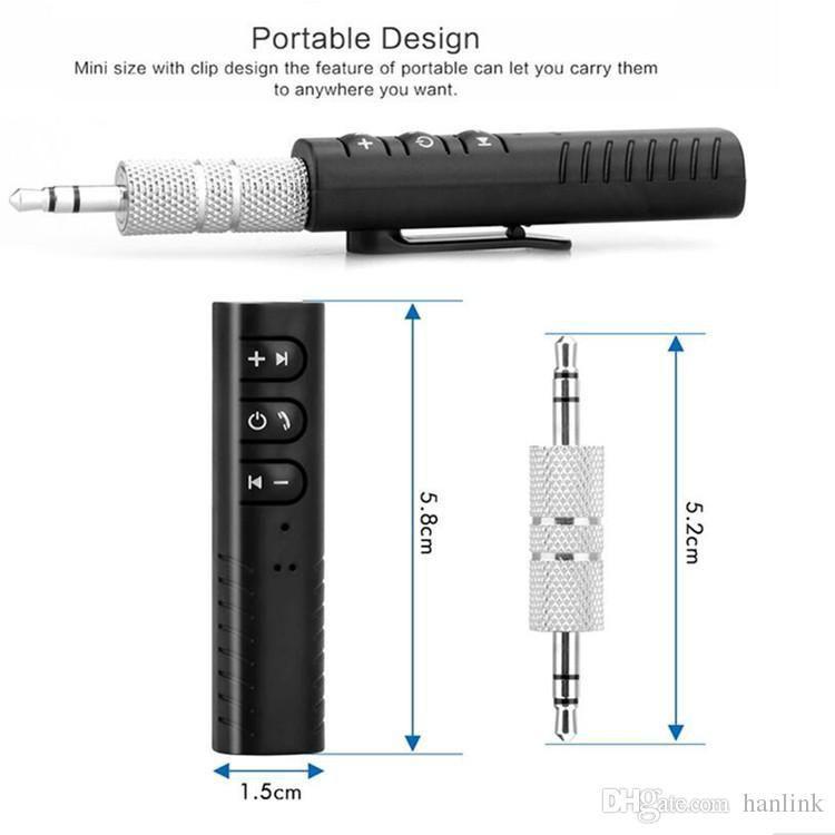 Receptor Bluetooth Palito com mic.  Áudio Stereo P2 Músicas e ligações