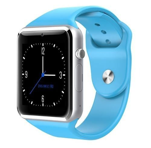 Relógio Inteligente  Smartwatch A1 Azul Notifica as Redes Sociais