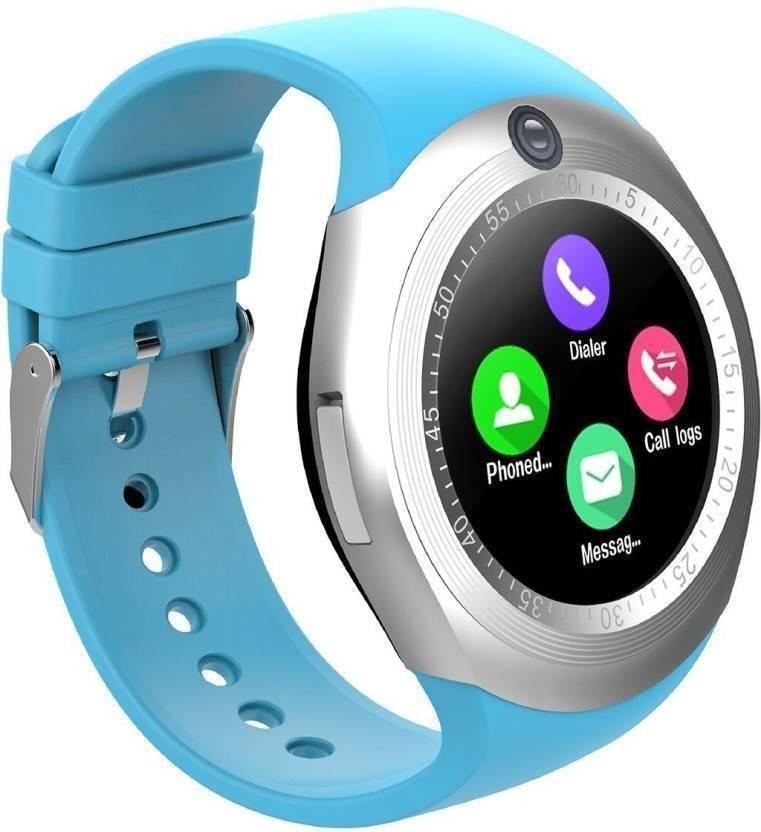 Relógio Inteligente Y1 Bluetooth Android & Ios - Azul