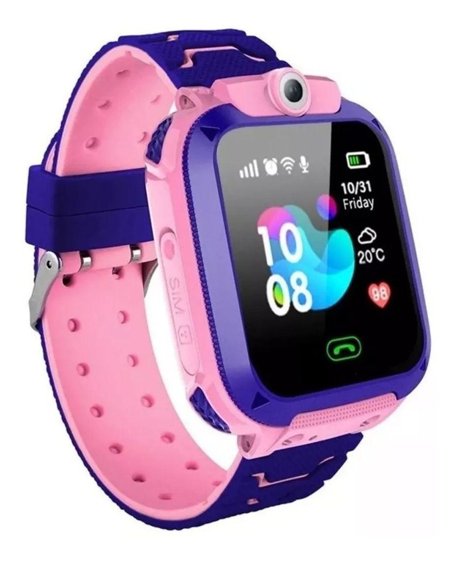 Relógio Smart Watch Kids Com Gps Lanterna Chat Direto Câmera (rosa)