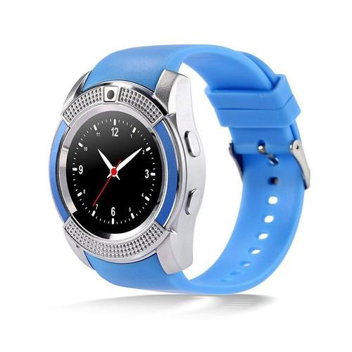 Relógio SmartWatch Inteligente V8 Bluetooth - Azul