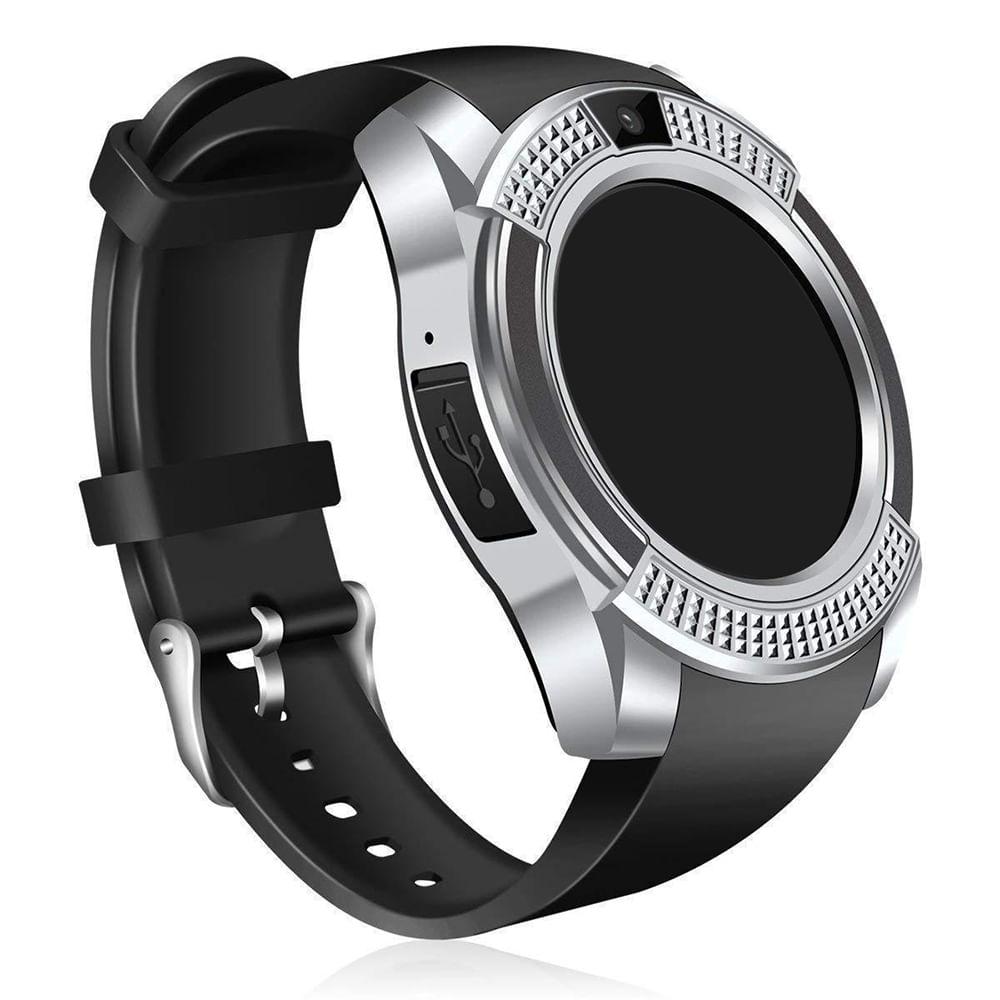 Relógio SmartWatch Inteligente V8 Bluetooth -Cinza