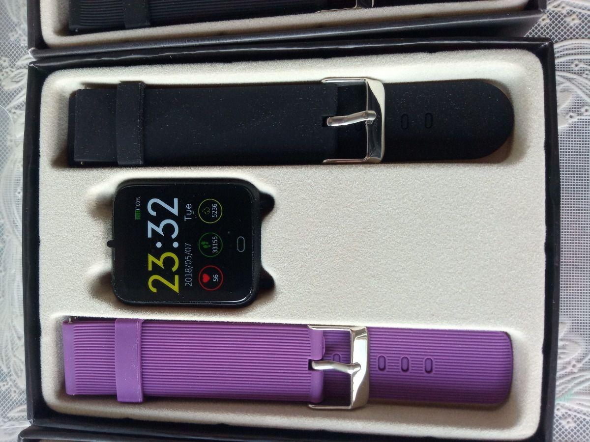 Relógio Smartwatch Q9 Cardíaco Pressão Ip67 Saúde + Pulseira extra (Lilás)