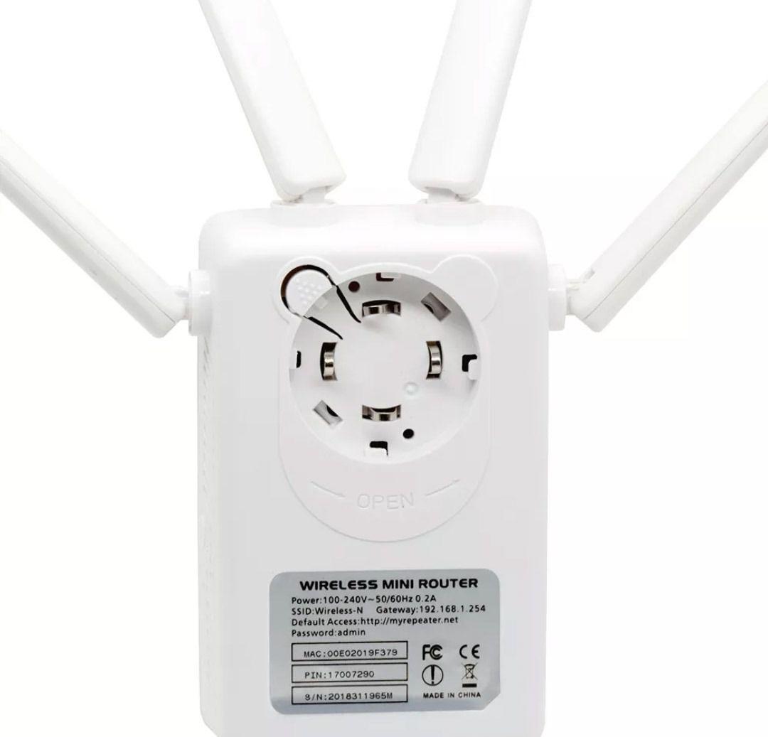Repetidor e Roteador Wifi 4 Antenas Pix-link instala fácil