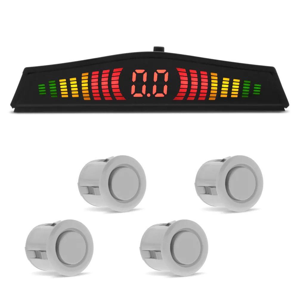 Sensor de Estacionamento 4 Pontos Pérola Display LED Colorido
