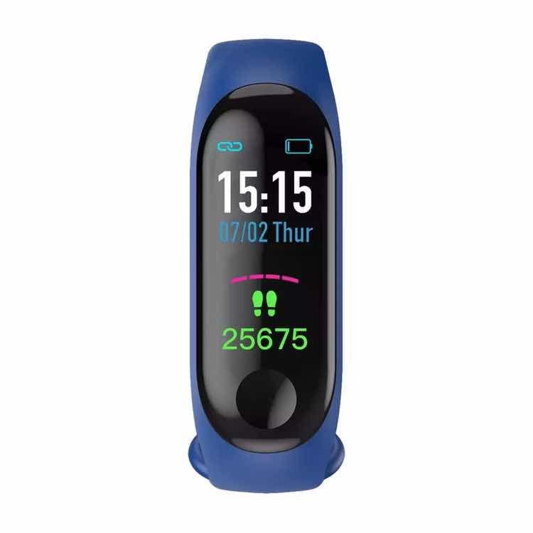 Pulseira inteligente Smartband M3  Pressão Batimentos