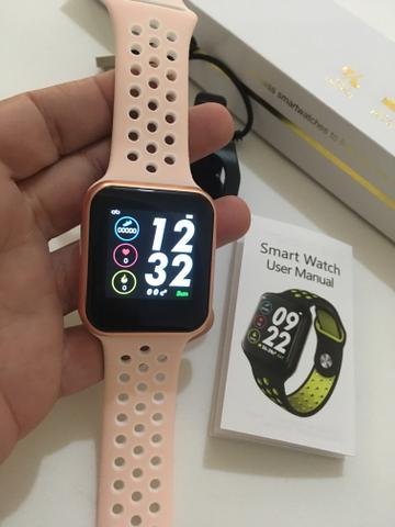 Smartwatch F8 Wearpai Relógio Inteligente Rose Gold