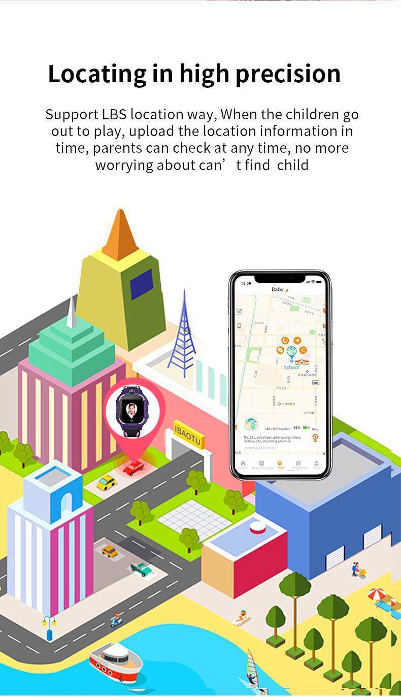 Smartwatch Infantil Q19 Relógio com GPS Preciso Câmera Chat
