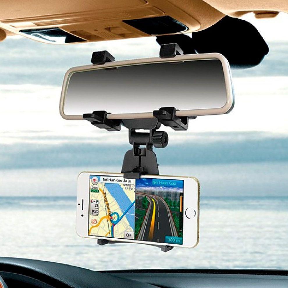 Suporte Carro Veicular Para Celular Gps Retrovisor Uber Tax