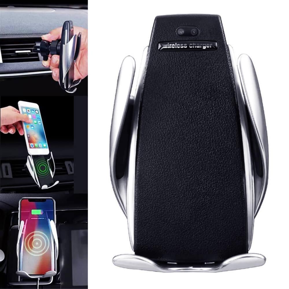 Suporte Veicular com Sensor e Fechamento automático e Carregador sem Fio S5