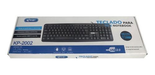 Teclado com Fio Computador Notebook Gamer Kp-2002 Usb Knup