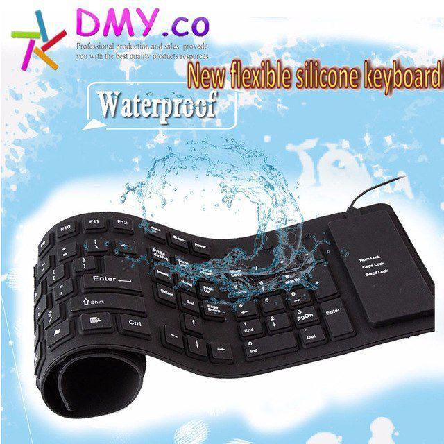 teclado flexível de silicone alta qualidade USB  portátil  À Prova D' Água