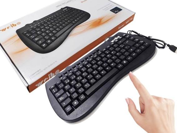 Teclado Mini Portátil Multimídia Usb 98 Teclas Wb-770