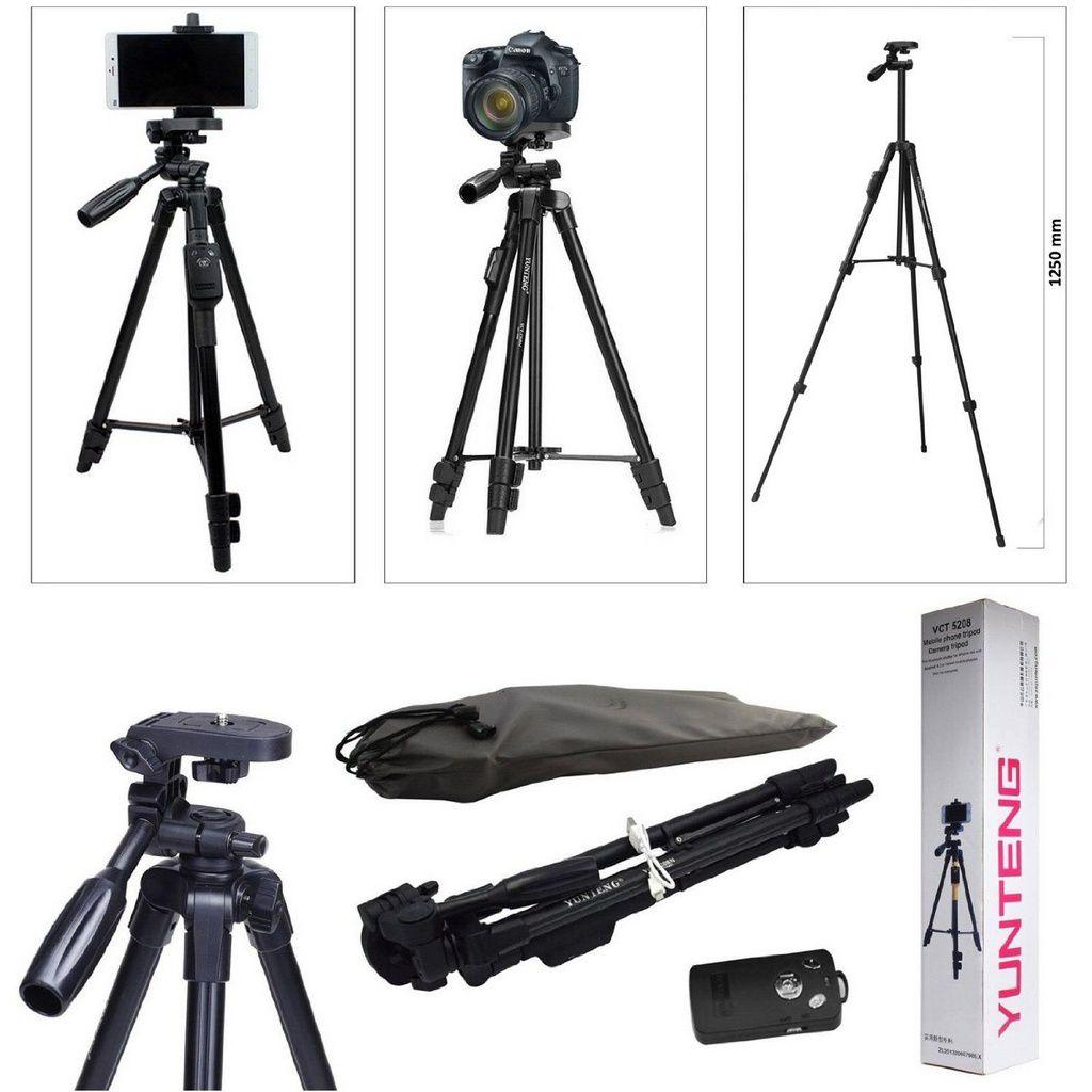 Tripé  YUNTENG VCT5208 para Bluetooth e câmera móveis