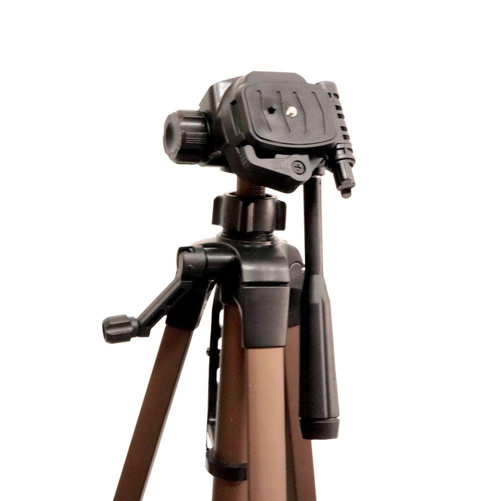 Tripé Profissional 180 Cm Resistente Câmera Smartphone