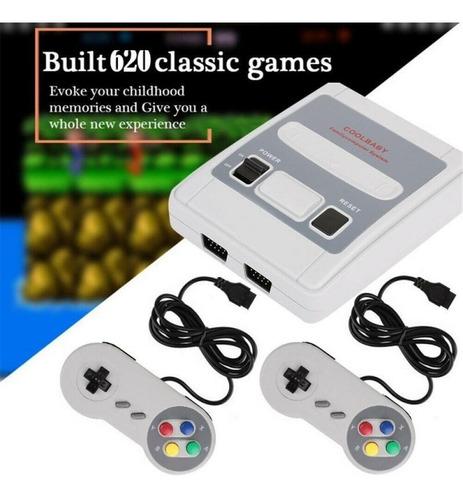 Super Mini Game Sfc Retrô 620 Jogos  16 Bits 2 Controles