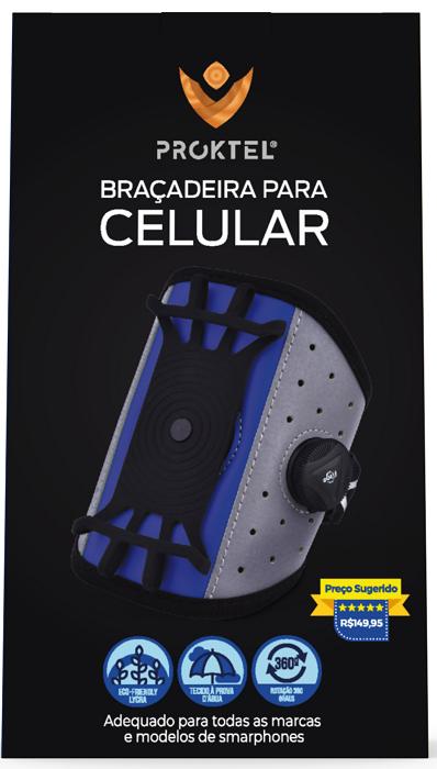 Braçadeira para Celular Universal Proktel - Azul