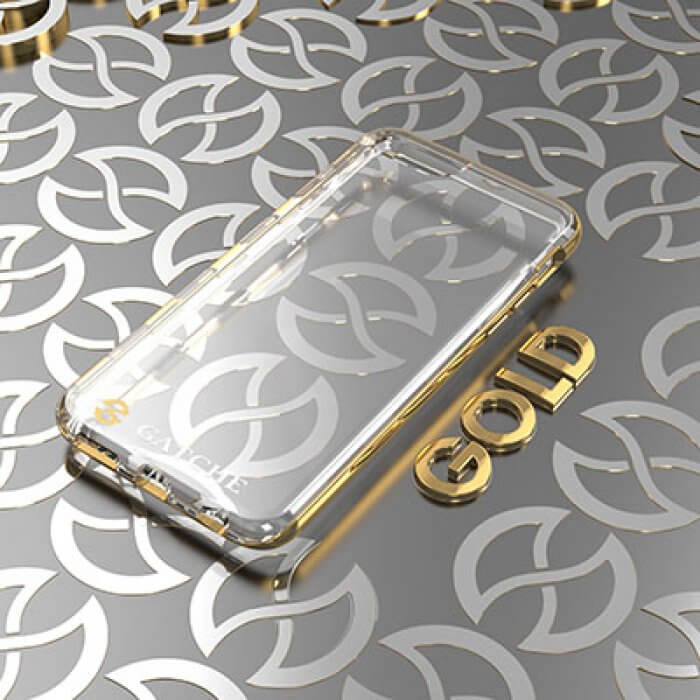Capa iPhone 7 Gatche Gold