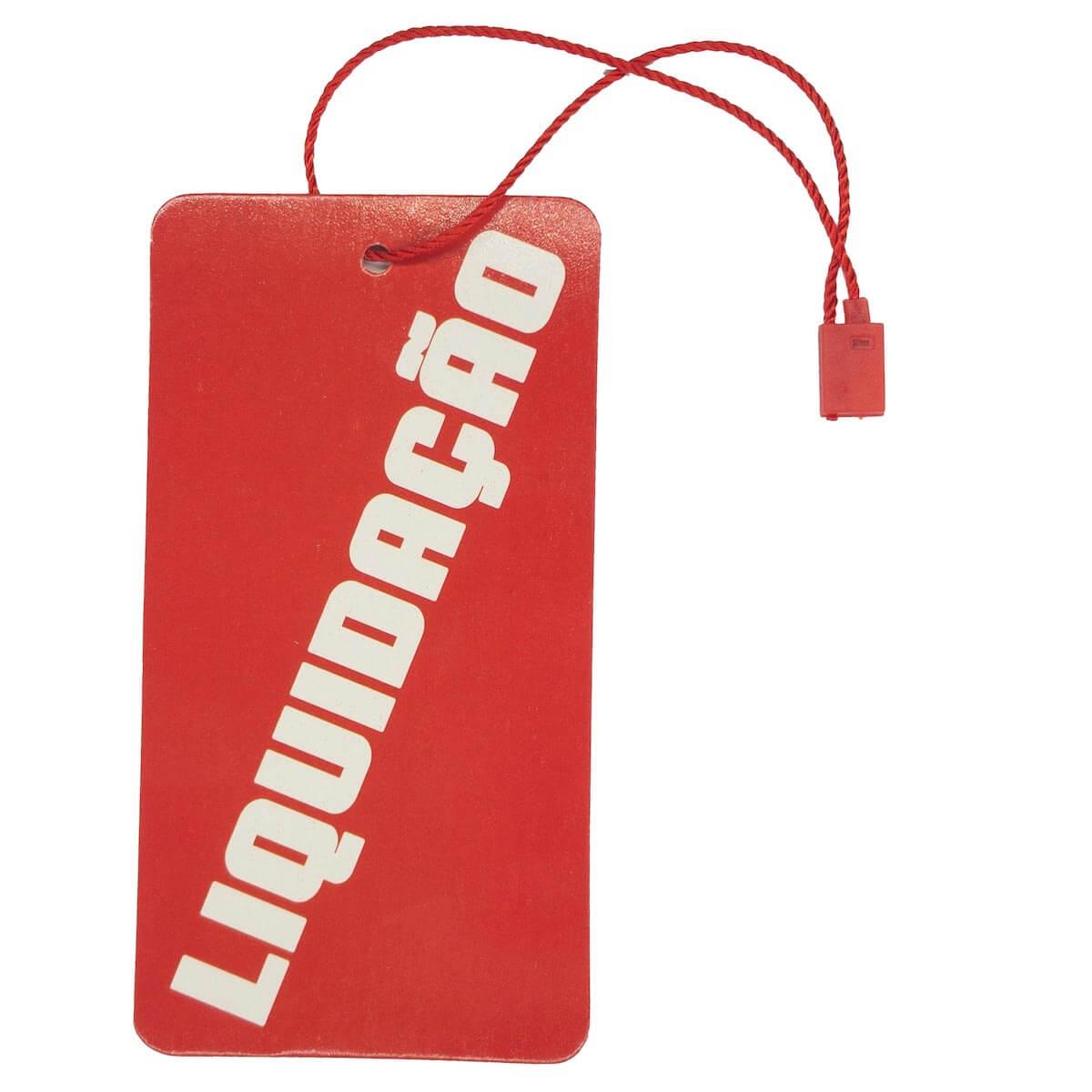 c27a78a31a Tag para Roupas Liquidação Vermelho com Branco Retangular 10.000 Peças