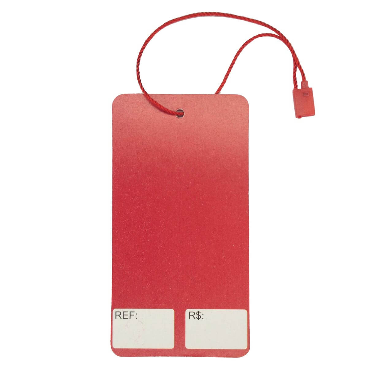 ad4a27b316 ... Tag para Roupas Liquidação Vermelho com Branco Retangular 10.000 Peças