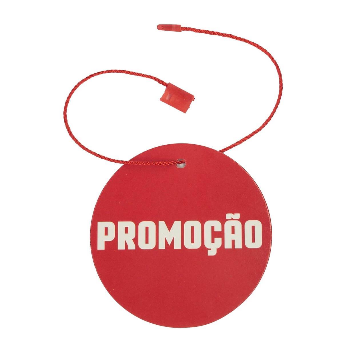 bdc3401c66 Tag para Roupas Promoção Vermelho com Branco Redonda 5.000 Peças - Universo  Têxtil ...
