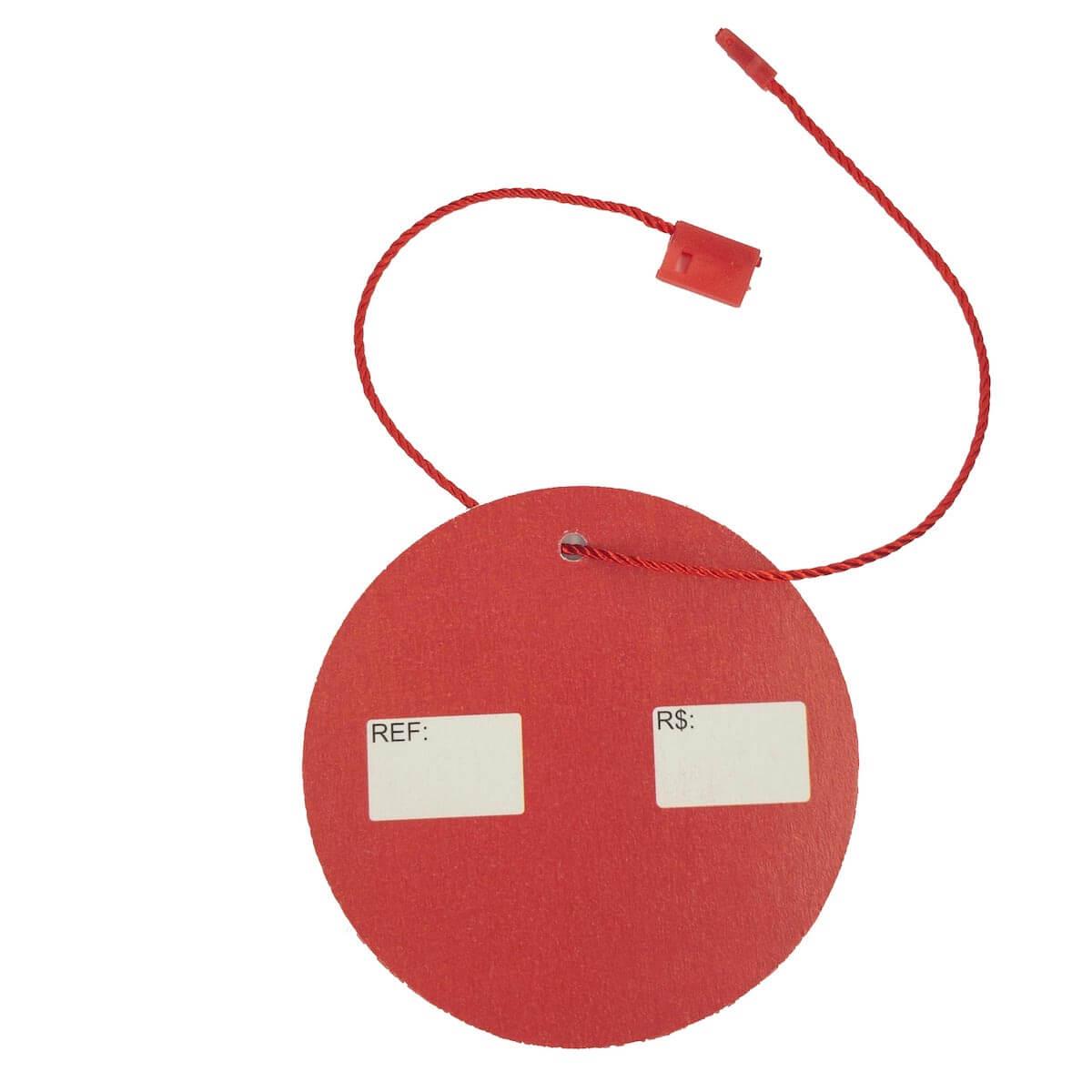 d08a96580e ... Tag para Roupas Promoção Vermelho com Branco Redonda 5.000 Peças - Universo  Têxtil