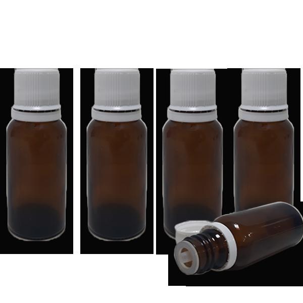 10 Frascos Gotejador em Vidro Âmbar (completo) - 20ml  - Loja Online | Manipule - Farmácia de Manipulação