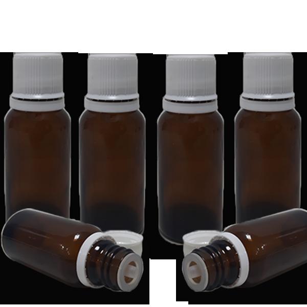 10 Frascos Gotejador em Vidro Âmbar (completo) - 30ml  - Loja Online | Manipule - Farmácia de Manipulação
