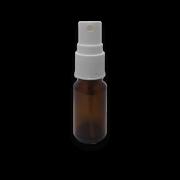 Frasco Spray 20ml - Vidro Âmbar com Válvula Branca