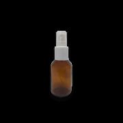 Frasco Spray 30ml - Vidro Âmbar com Válvula Branca
