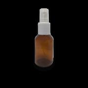 Frasco Spray 60ml - Vidro Âmbar com Válvula Branca
